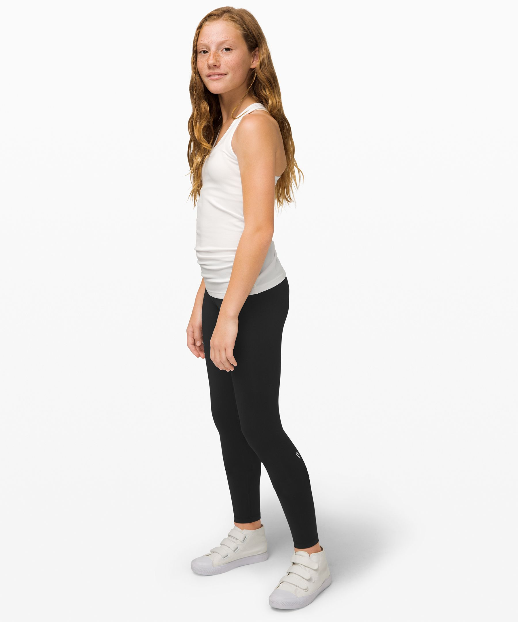 These four-way stretch tights  are so comfy she\'ll want to  wear them for all her  activities.