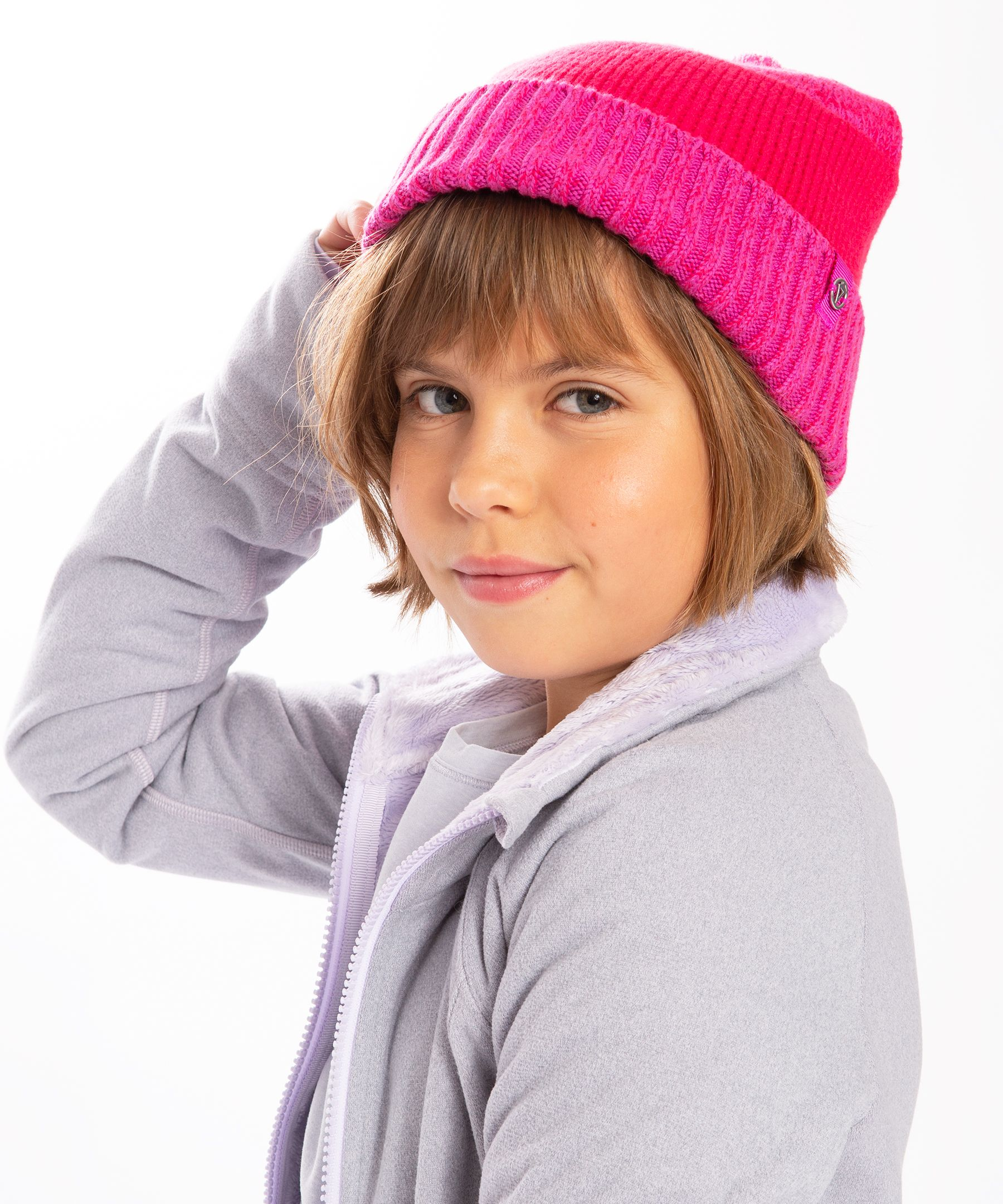 Lock in the warmth and cover  your head on cold, chilly days  with this soft toque.