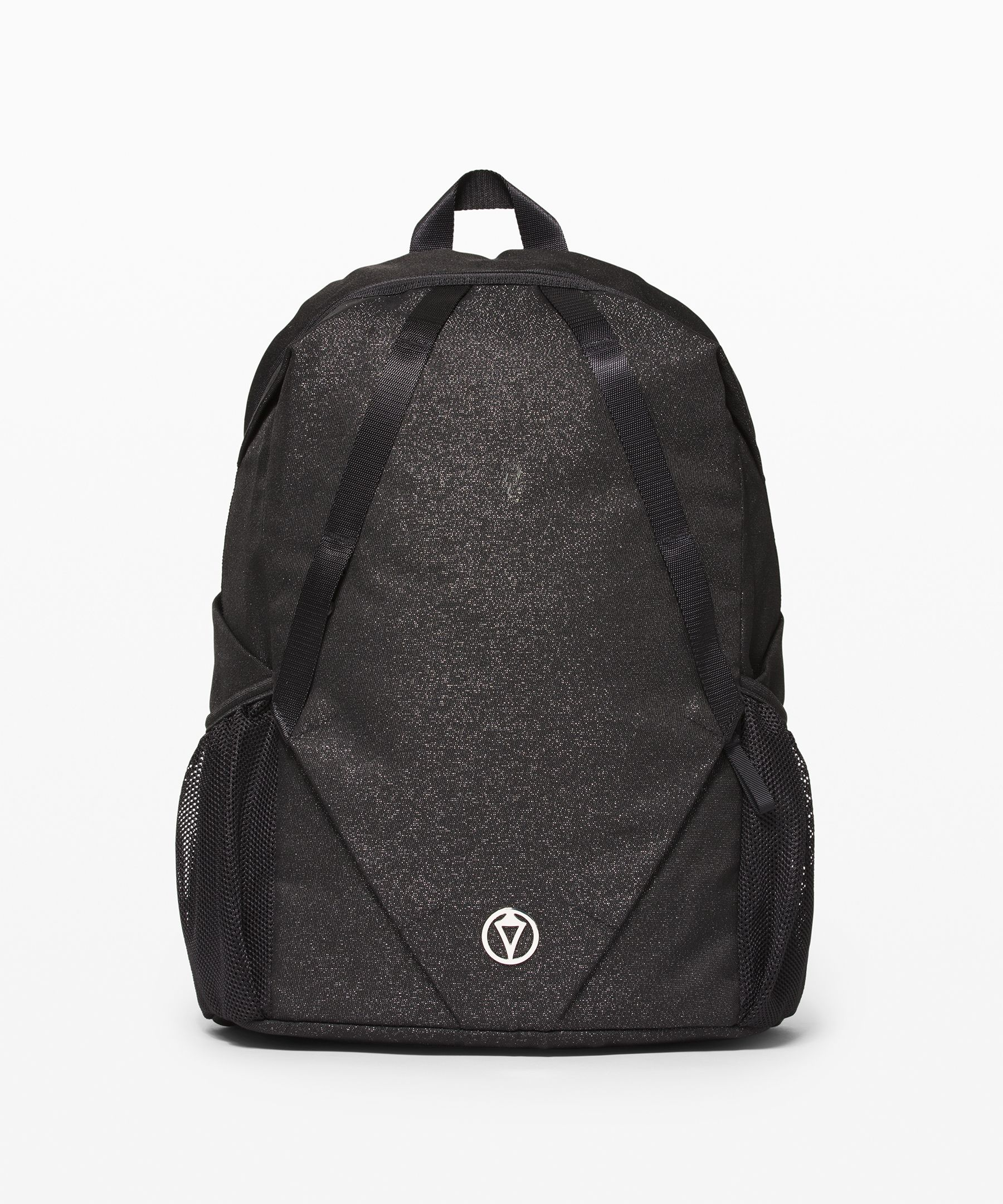This spacious backpack has  room for everything she needs  for school and practice.  Exterior clips let her attach  the Hungry for Adventure Lunch  Bag.