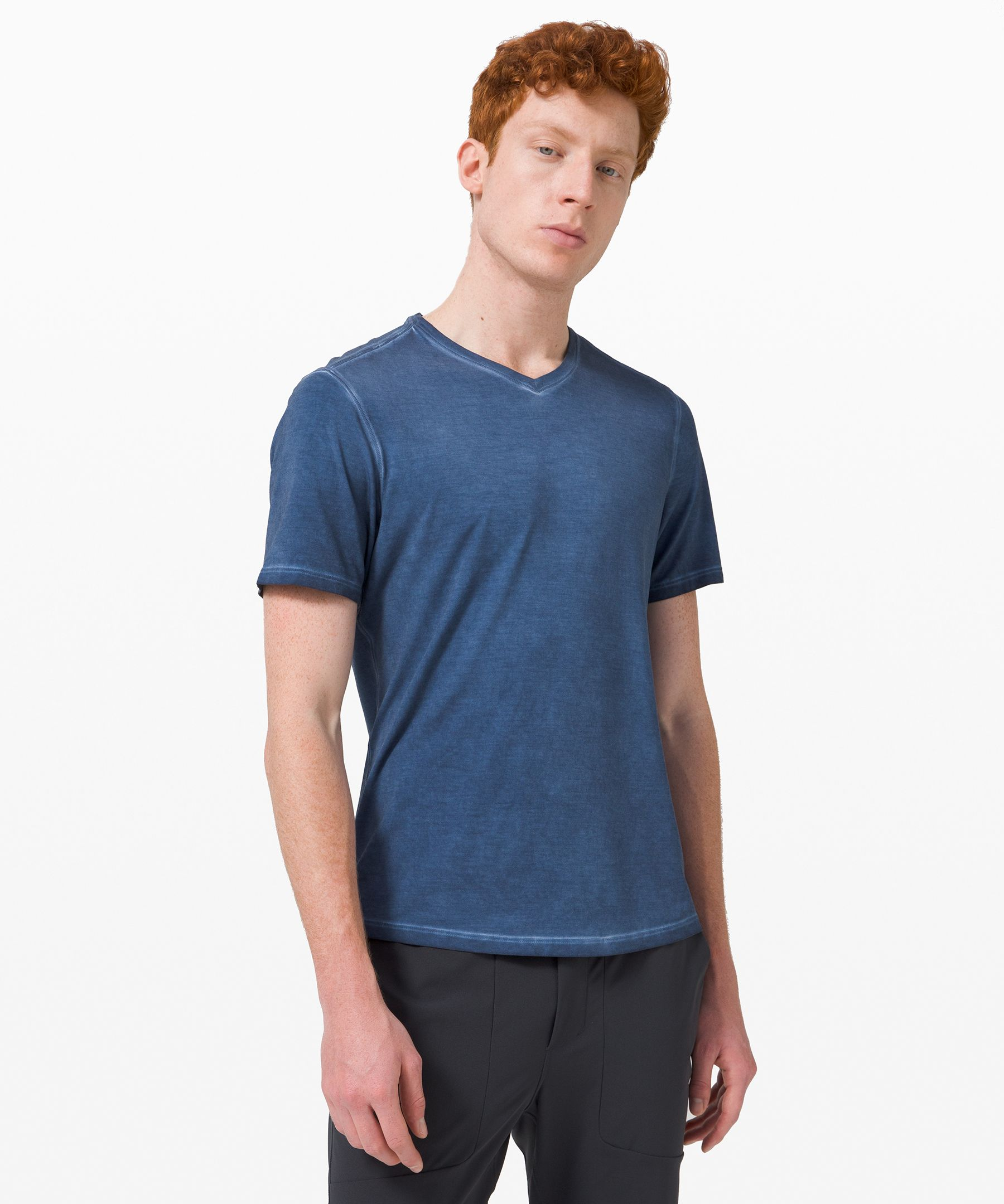 This soft, lightweight v-neck  is built for ultimate everyday  comfort.
