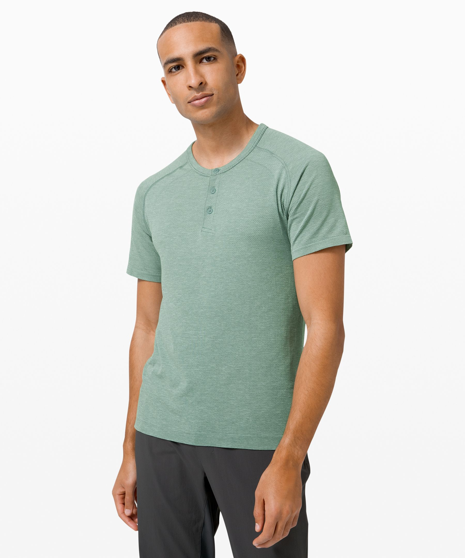 The ultimate technical  training henley—built to  perform sweat after sweat.