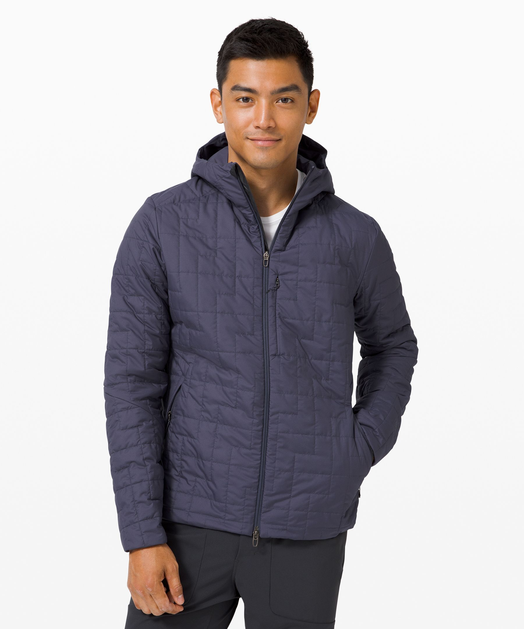 Reach for this water-repellent  hoodie as you head out the  door to greet slate coloured  skies. DWR-treated fabric  shields you from wind and  light rain, while Primaloft®  insulation provides weightless  warmth so you can power  through whatever the weather  has in store.
