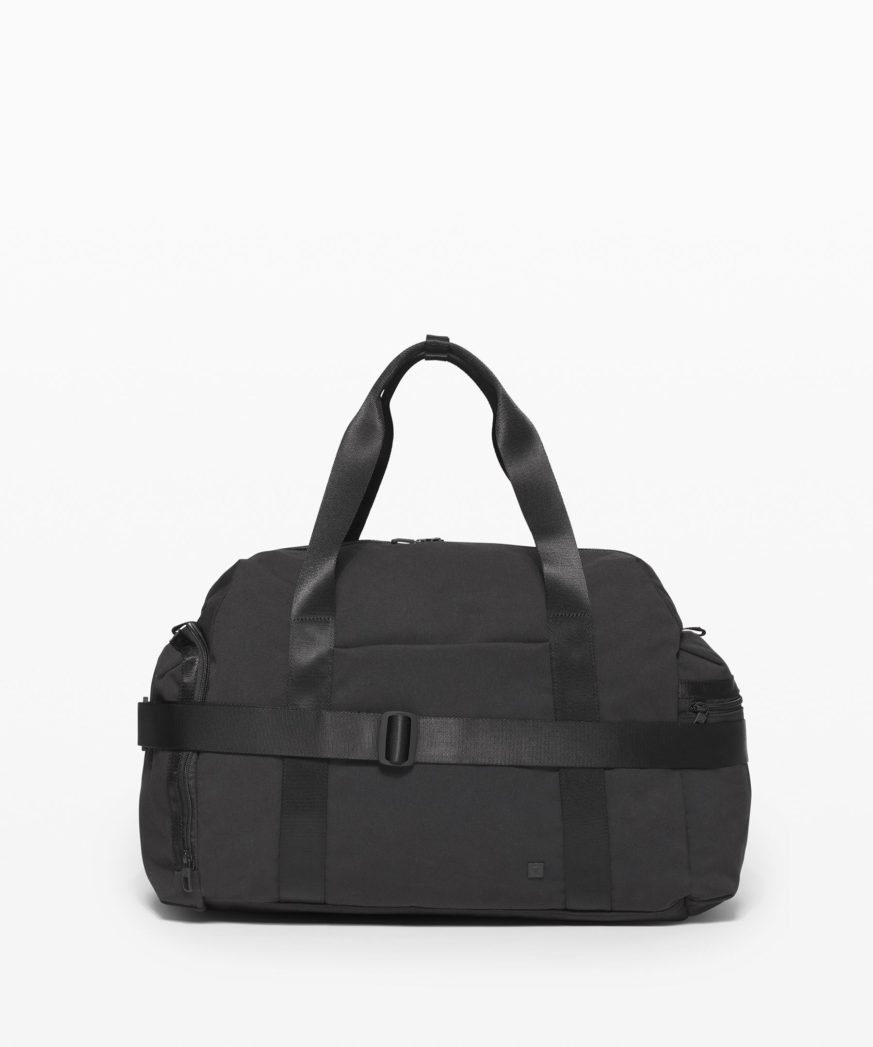 Stay organized and look smart.  This super-functional duffel  has a spot for everything you  need.