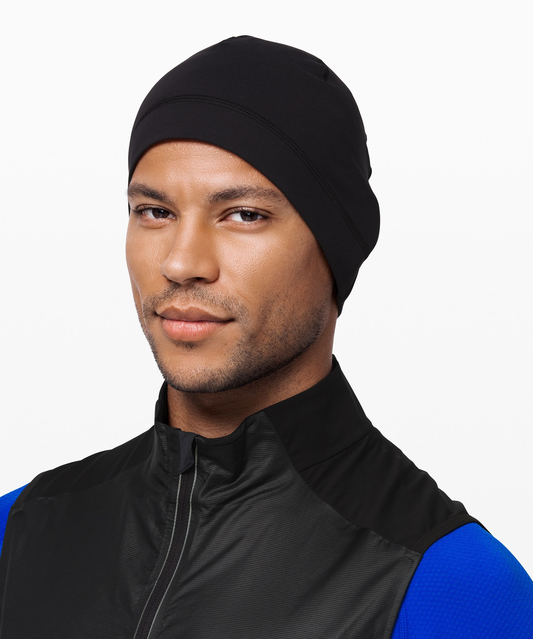 Keep your head and ears warm  during cold-weather runs with  this soft, fitted beanie.