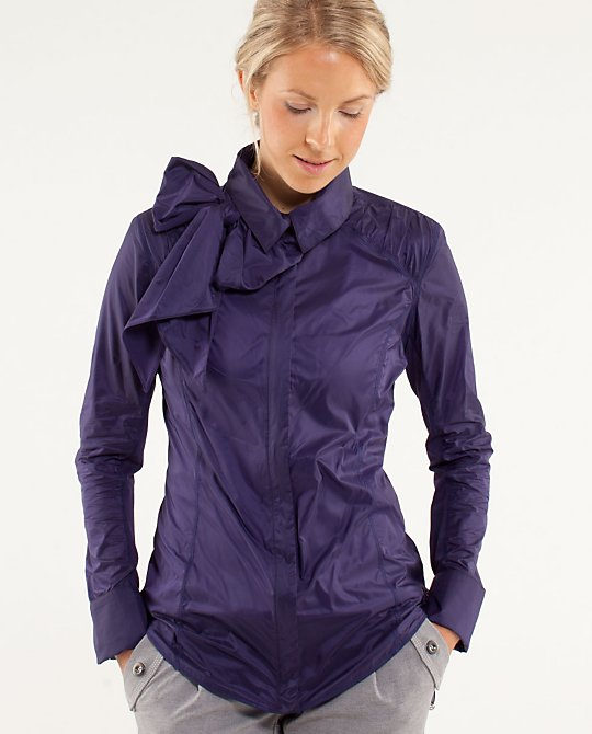 Lululemon Pedal Power Wind Shirt in Dense Purple