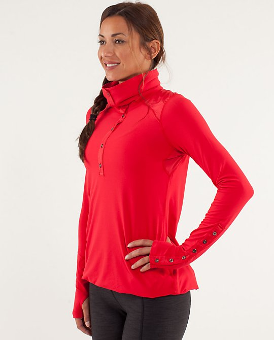 Lululemon Pedal Power Longsleeve in Currant
