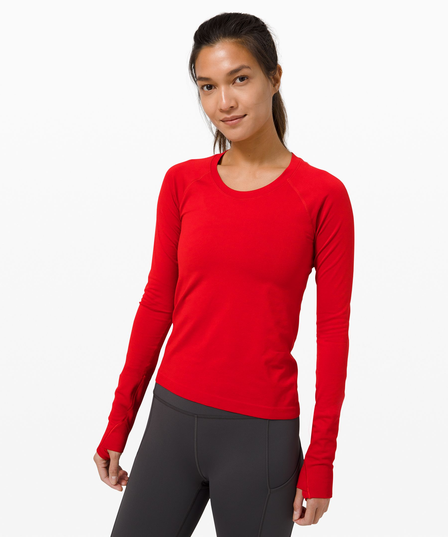 Whether you\\\'re running or  training, this anti-stink long  sleeve gives you the  lightweight coverage you need.  Shortened length won\\\'t ride up  on long runs or race day.