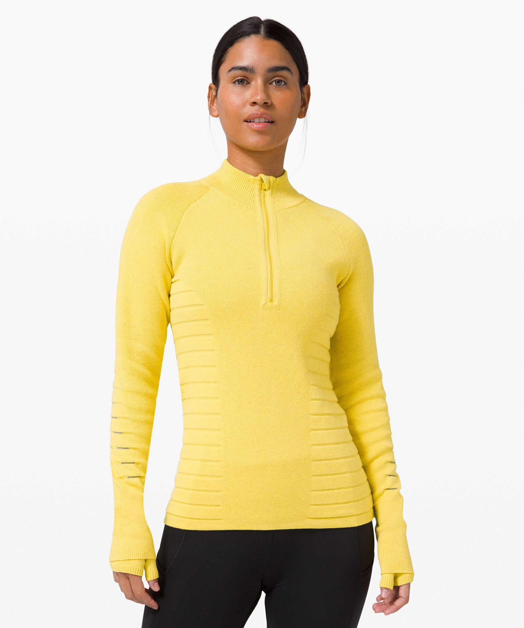Stay warm and don\\\'t be afraid  to get sweaty, even on chilly  days, in this slim-fit running  sweater.
