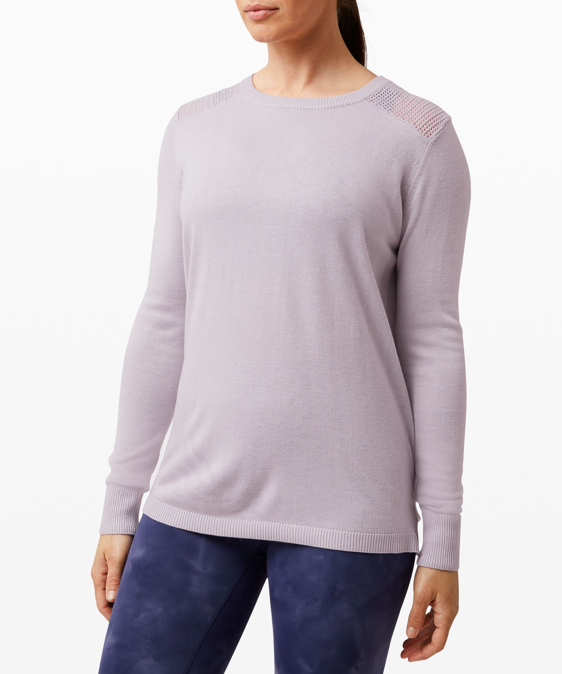 With an open back detail for  ventilation, this lightweight  sweater is easy to throw on  when you need to increase the  cool factor.