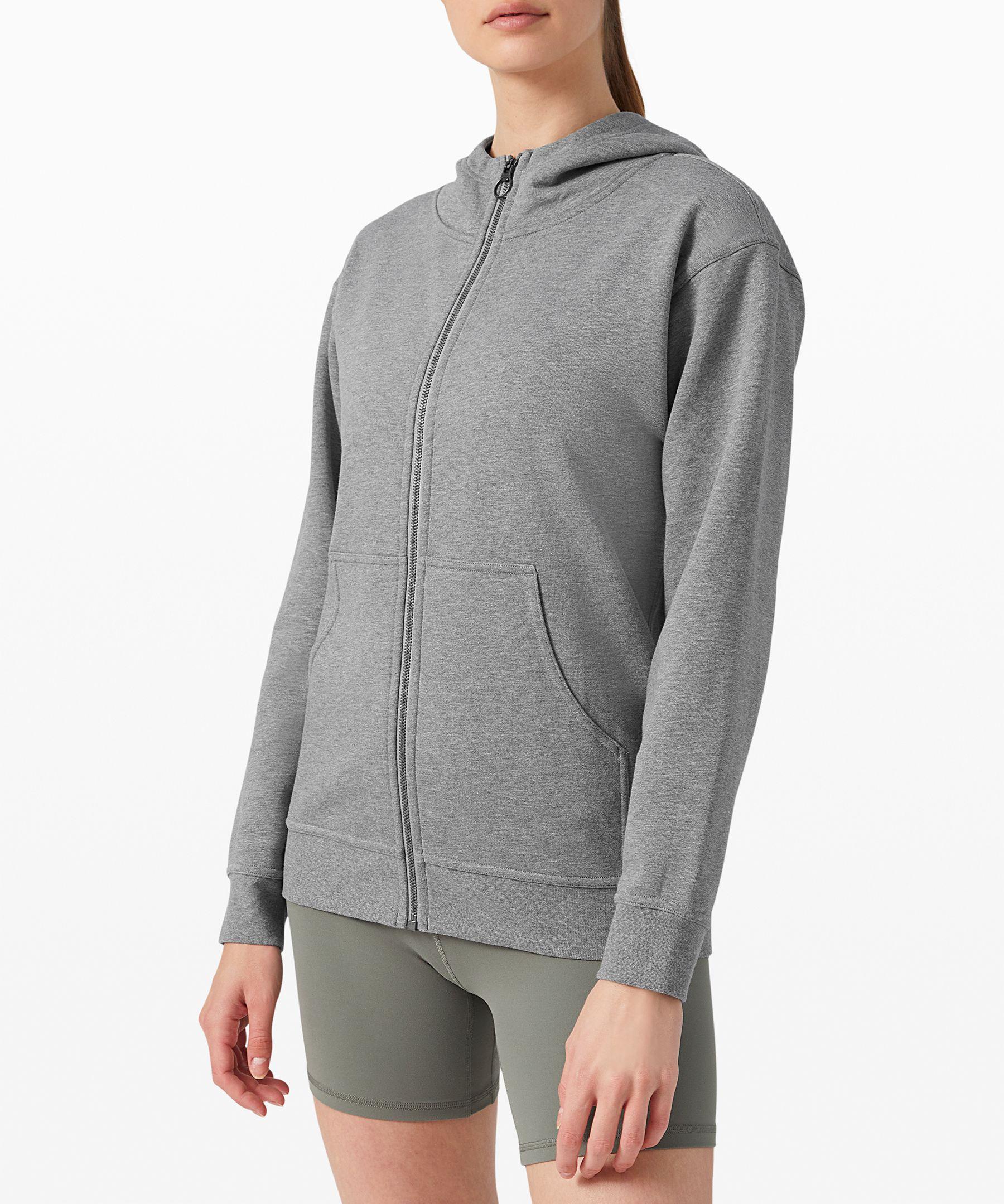 We designed this zip hoodie  for the ultimate post-practice  comfort.