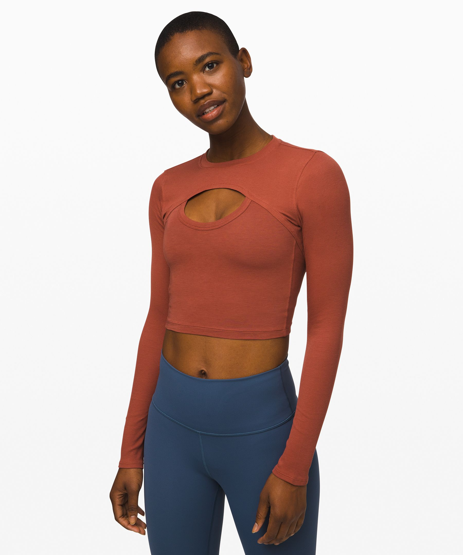 Featuring a keyhole cut out, this top gives you a layered look without the fuss.