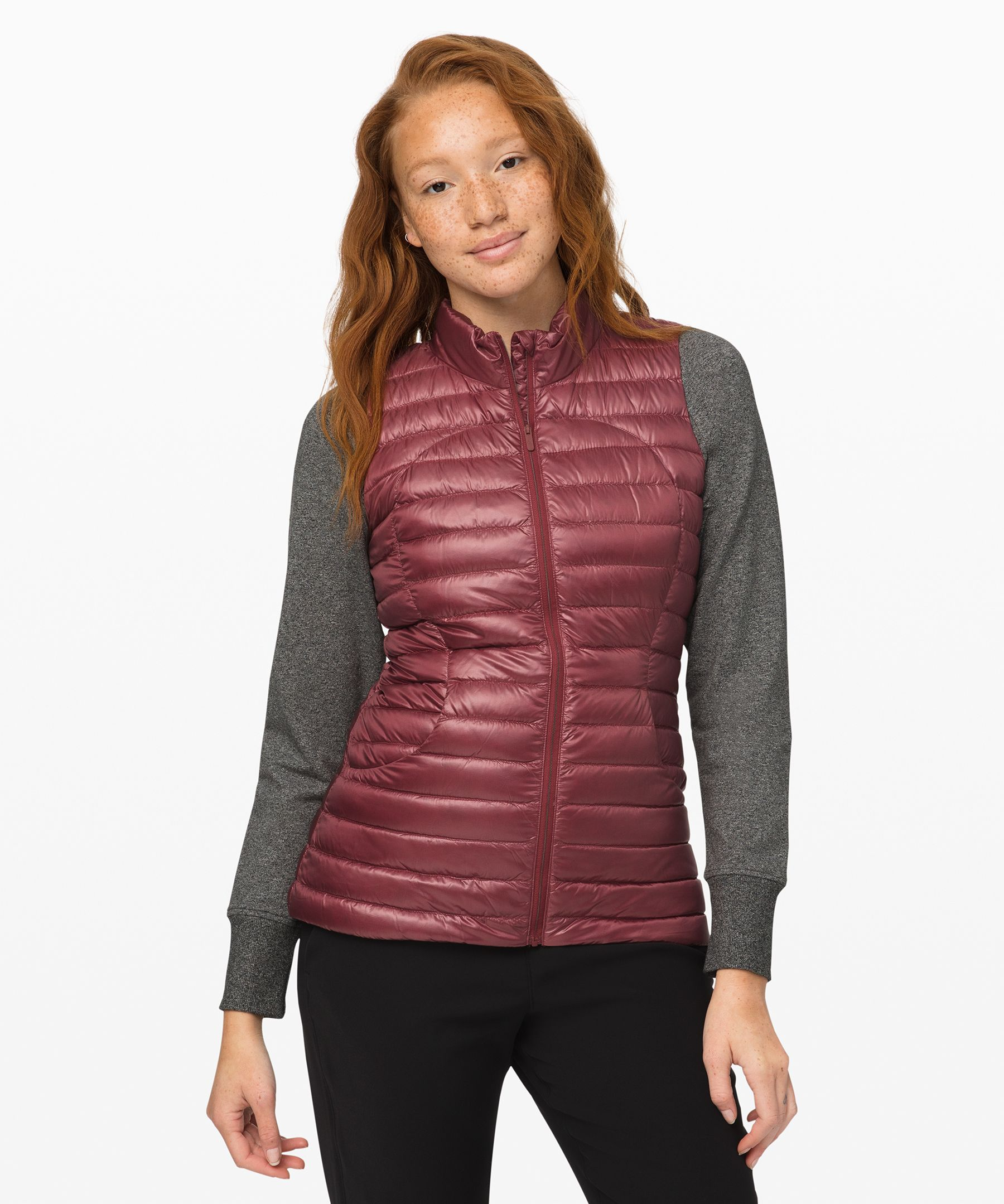 Lightweight and warm, this  vest is perfect for travel.  It\\\'s made with  weather-resistant fabric,  insulated with 700-fill-power  goose down, and comes with a  stuff sack for easy,  space-efficient packing.