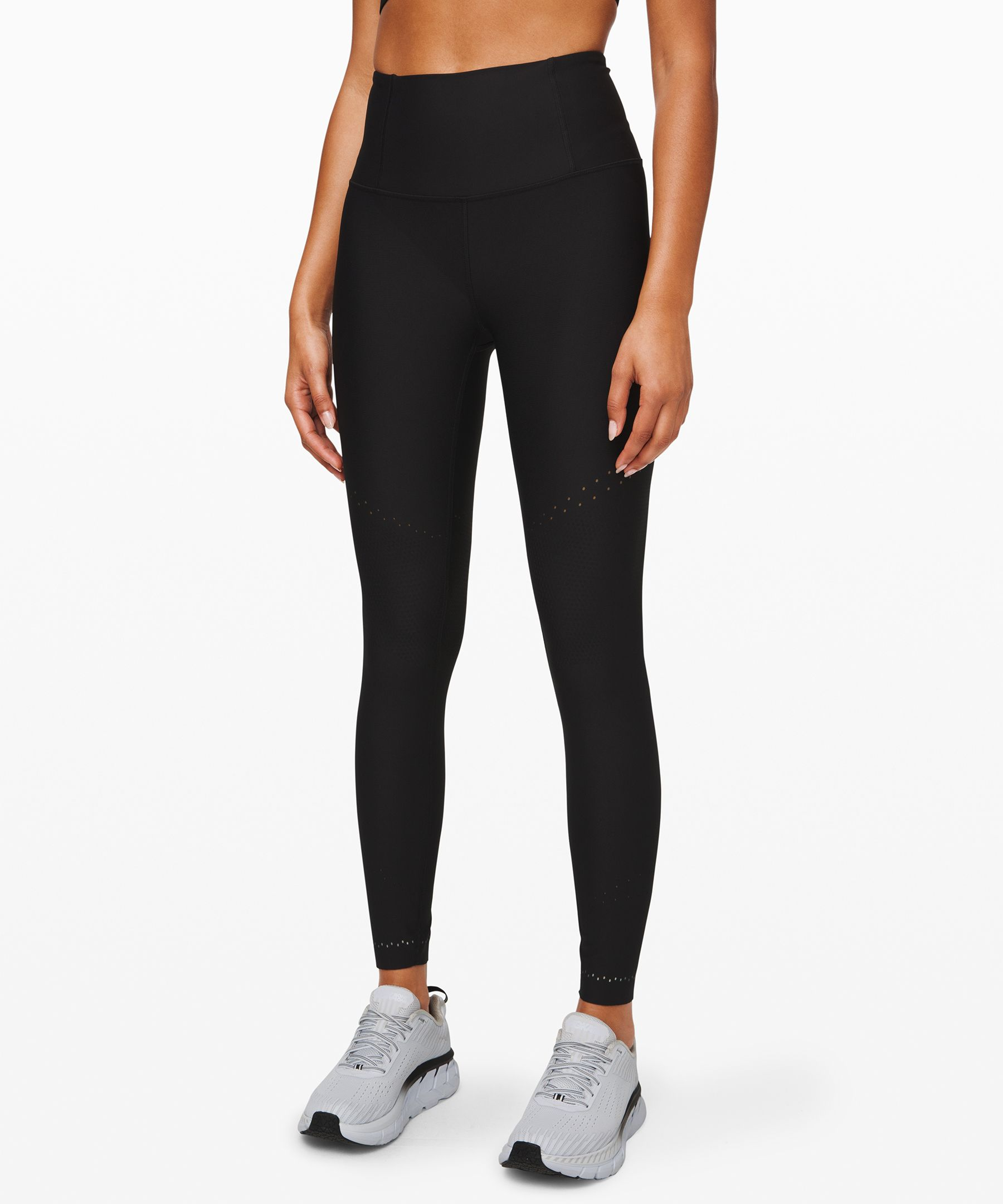 Zone in, run strong. With  seamlessly knit zones of  compression and ventilation,  these breathable tights  support your muscles without  restricting your stride.