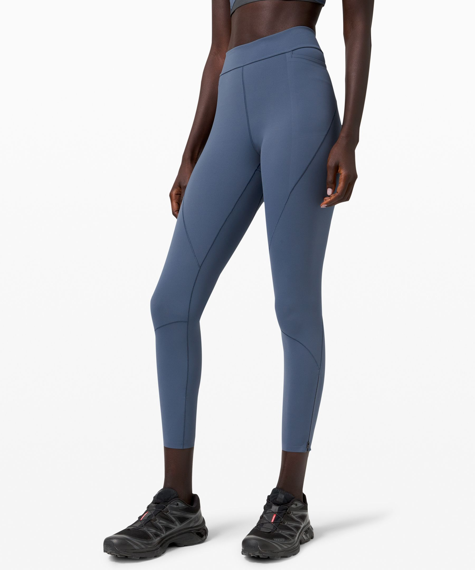 lululemon lab creates  lifestyle essentials for the  modern wardrobe, blending  streamlined function with  innovative designs. These  mid-rise tights are designed  with seams that contour the  leg for a sleek sensibility  and ankle zippers at the hem  for easy on and off. Throw  them on for a low-impact  workout or for wherever your  day may take you.