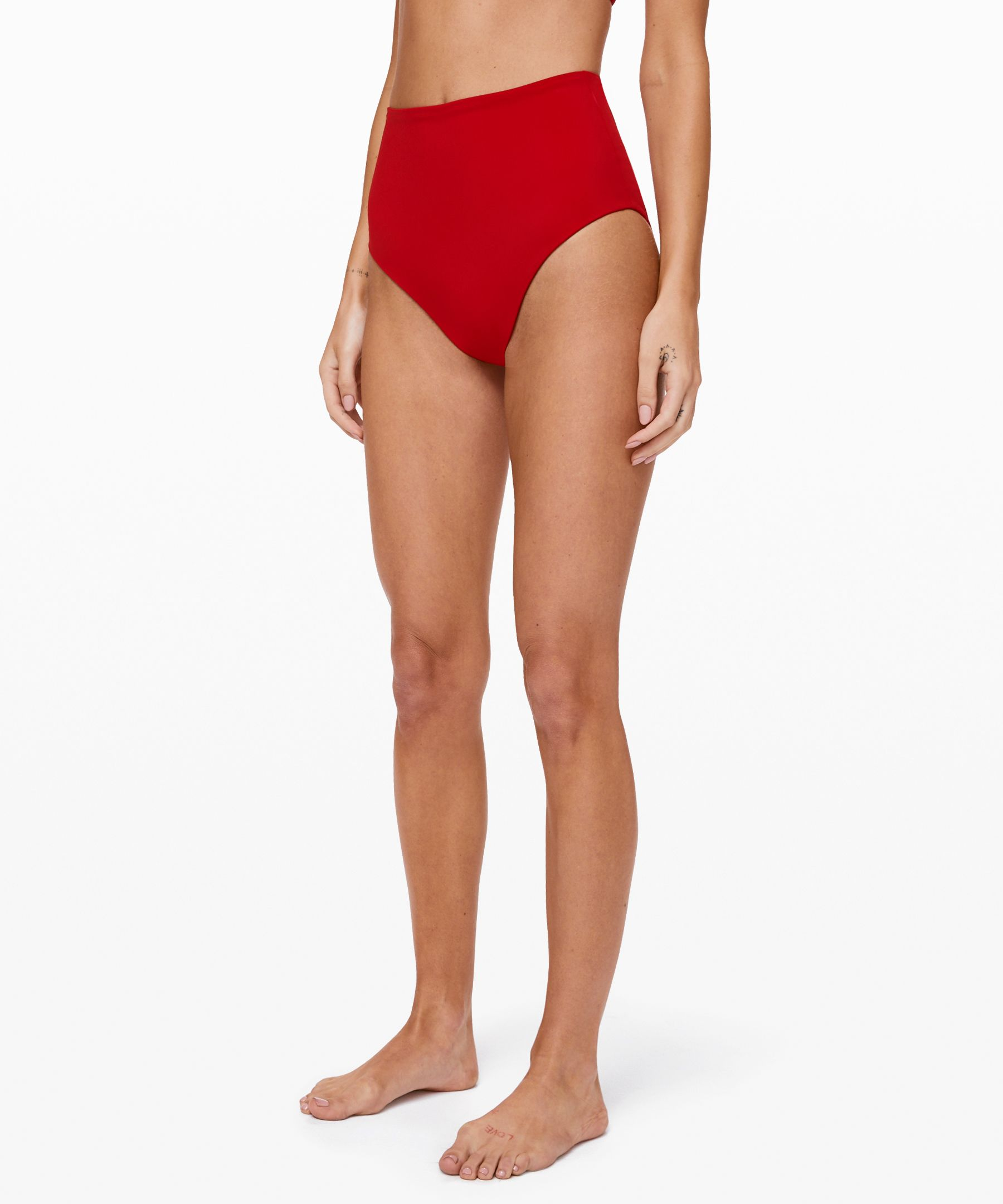 When the beach calls, throw on  these high-rise bottoms with  medium bum coverage and dive in.