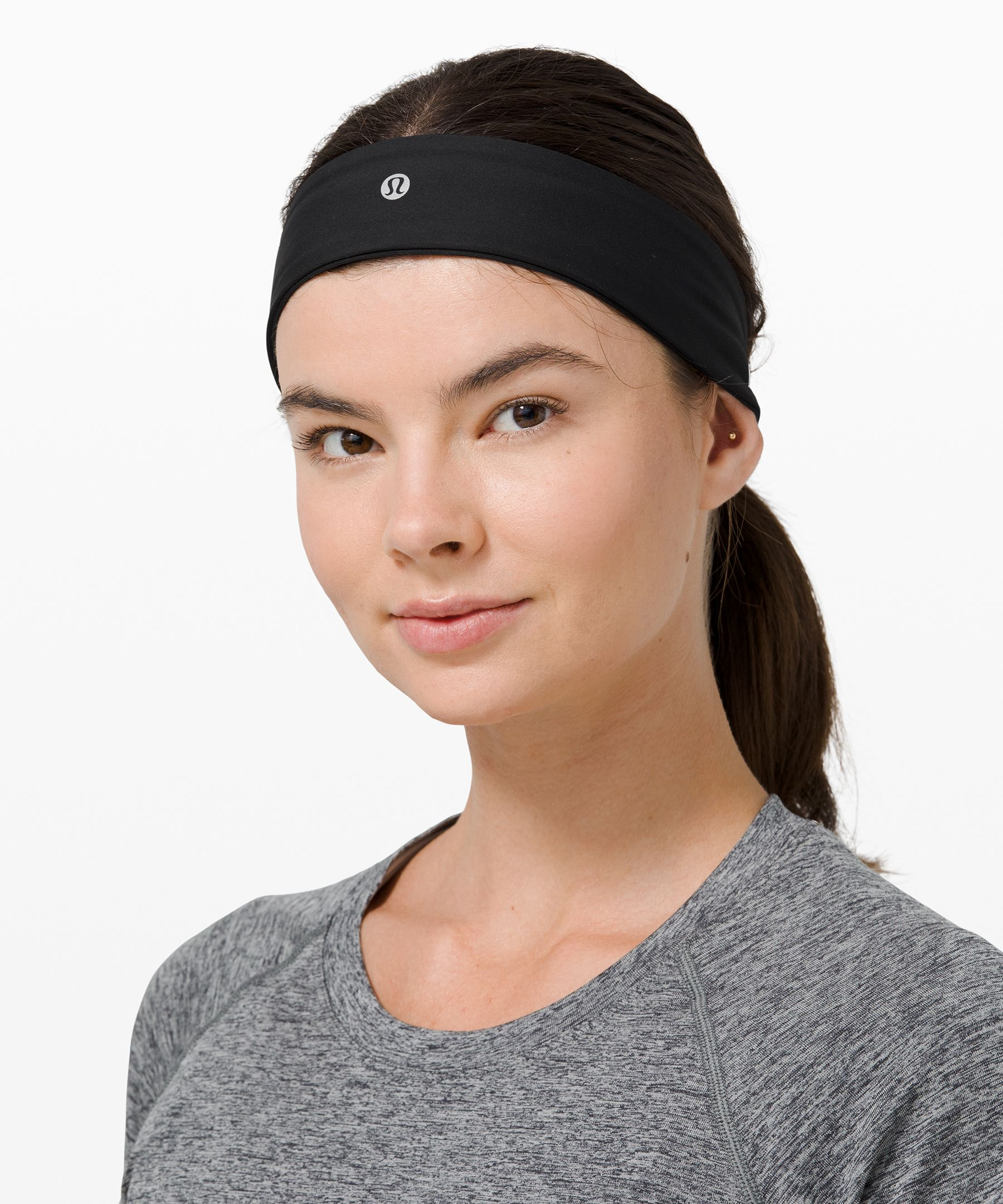 We designed this sweat-wicking  headband to hug your head in  all the right places for a  comfortable fit.