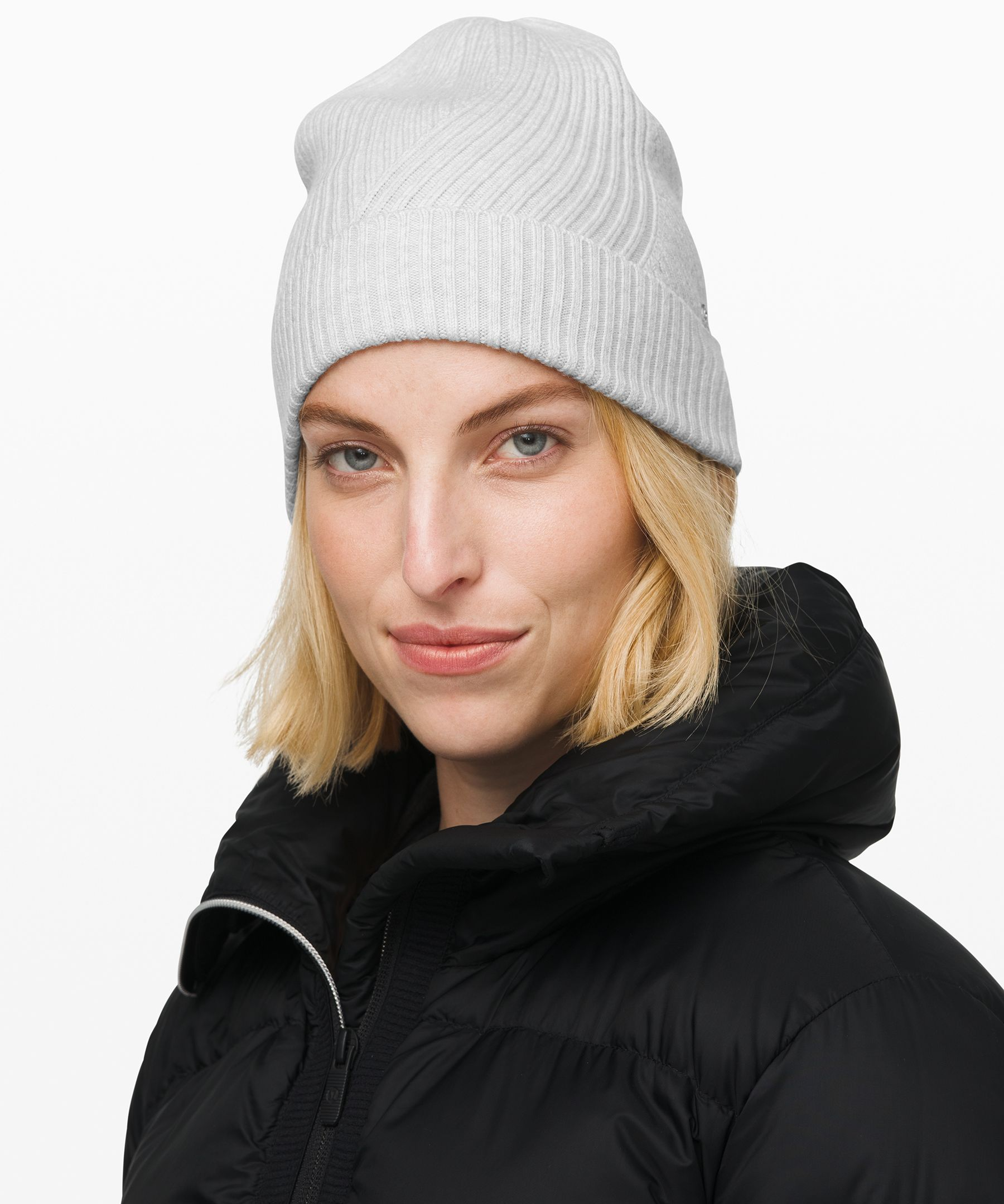 Keep your head cozy on crisp  days in this Merino Wool knit  beanie.