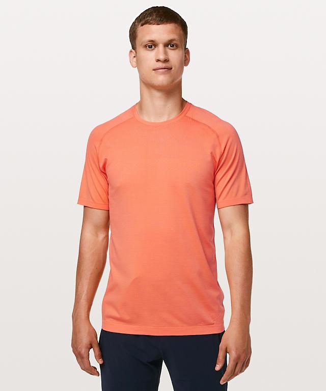 a5b7586030e Carotene Orange Frappe Metal Vent Tech Short Sleeve ...