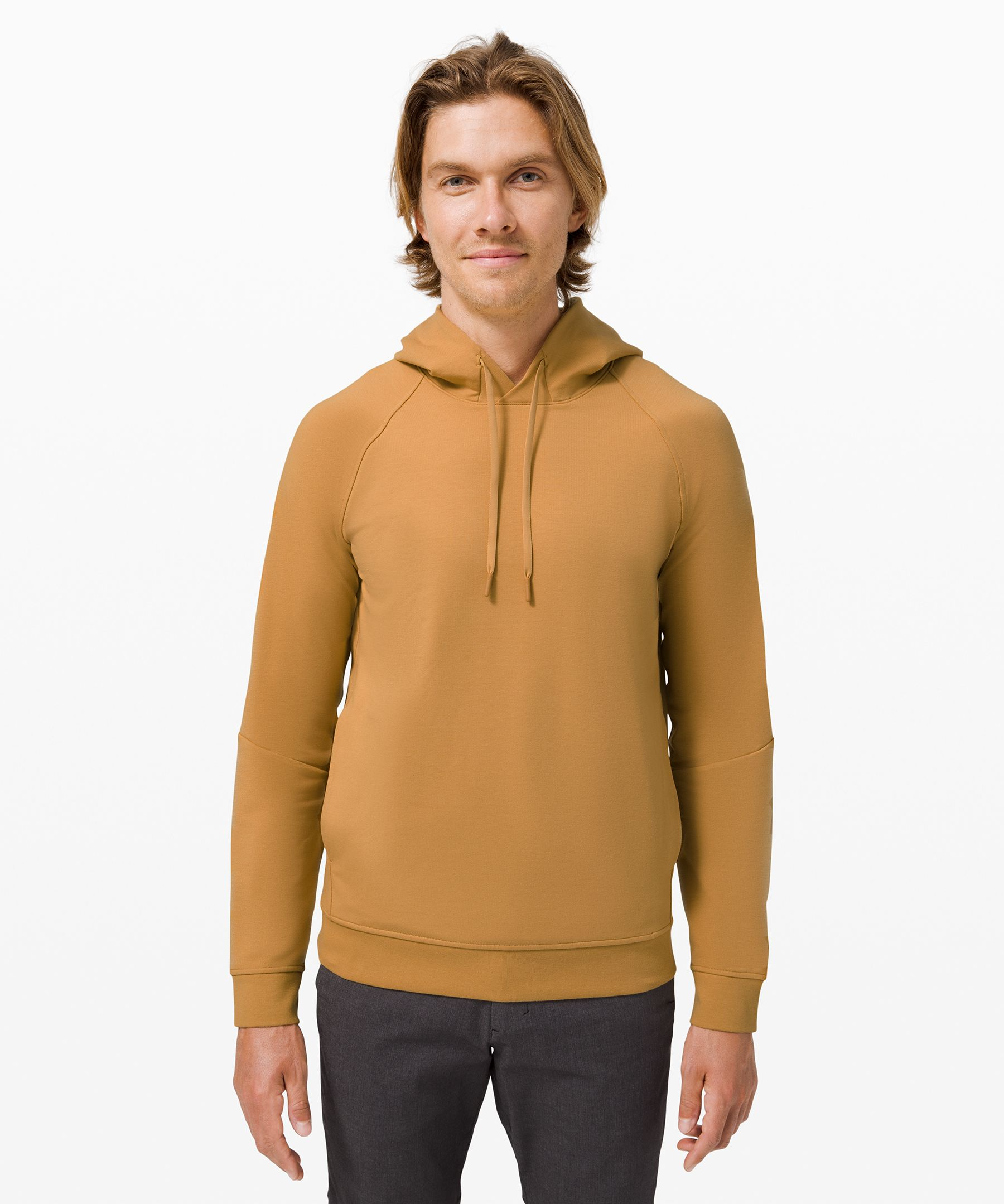 Lululemon City Sweat Pullover Hoodie *french Terry In Yellow