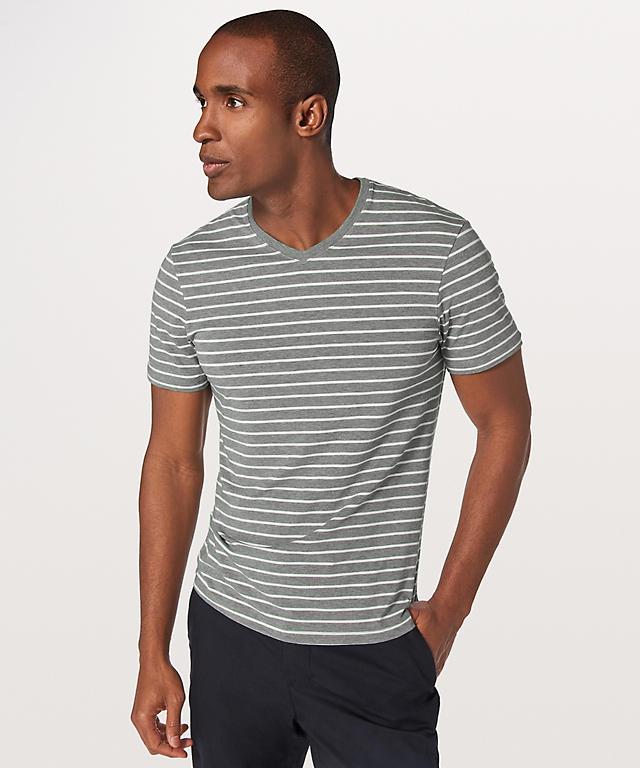 quiet stripe heathered medium grey white ...