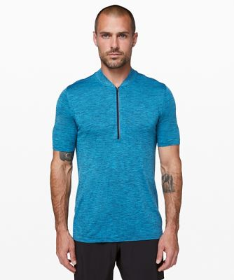 Metal Vent Surge Short Sleeve Half Zip
