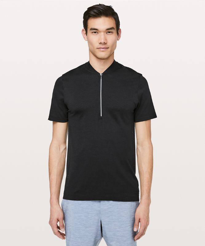 T-shirt Demi-zippé Tech métal Élan