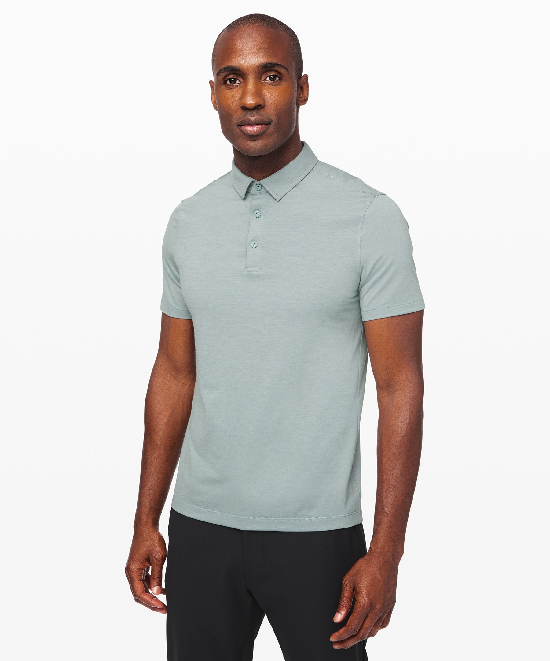 Evolution Polo Mens Short Sleeve Tops Lululemon Athletica