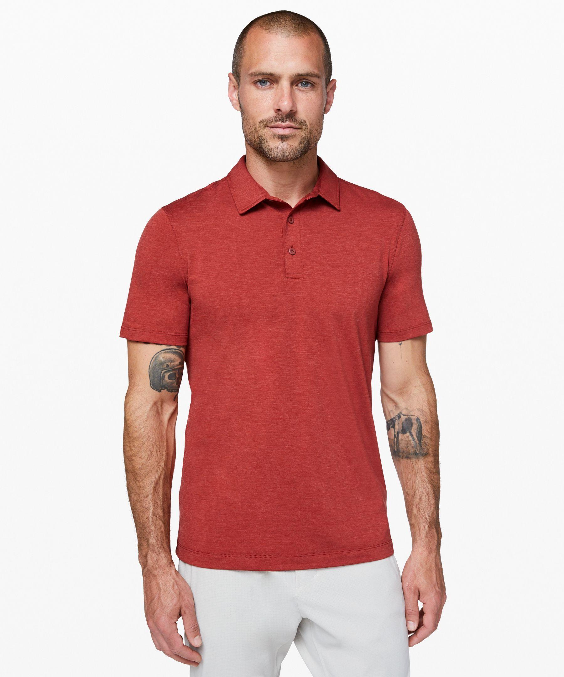 Lululemon Evolution Polo In Red
