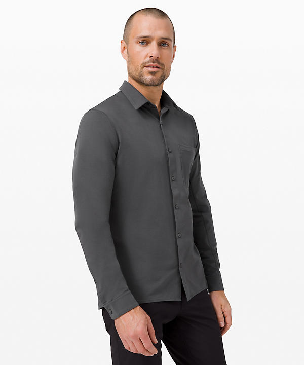 Commission Long Sleeve Button Down *Qwick Oxford | Men's Long Sleeve Tops