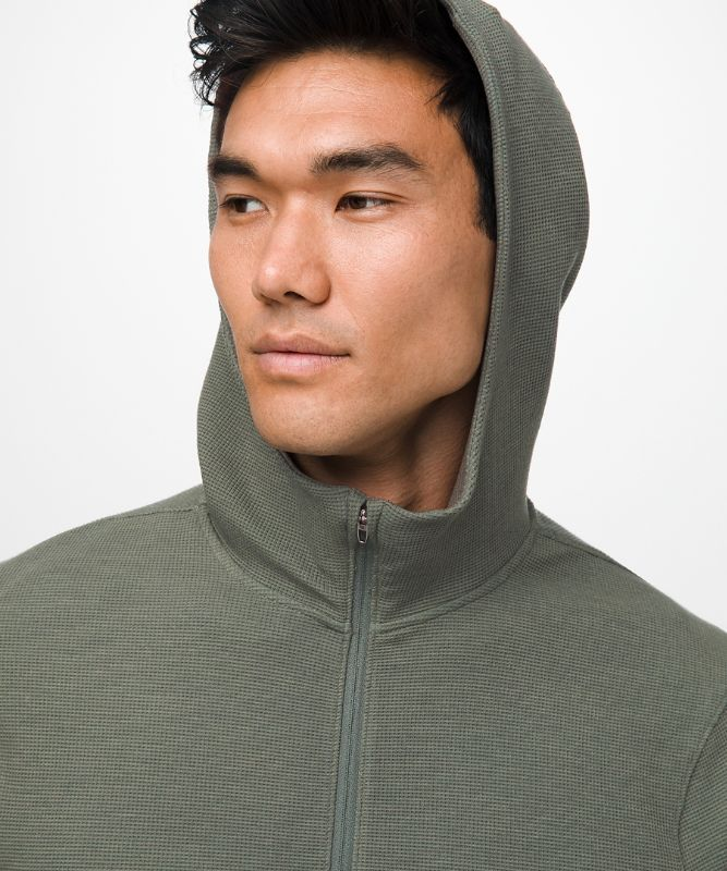 Shift Stitch Full Zip Hoodie