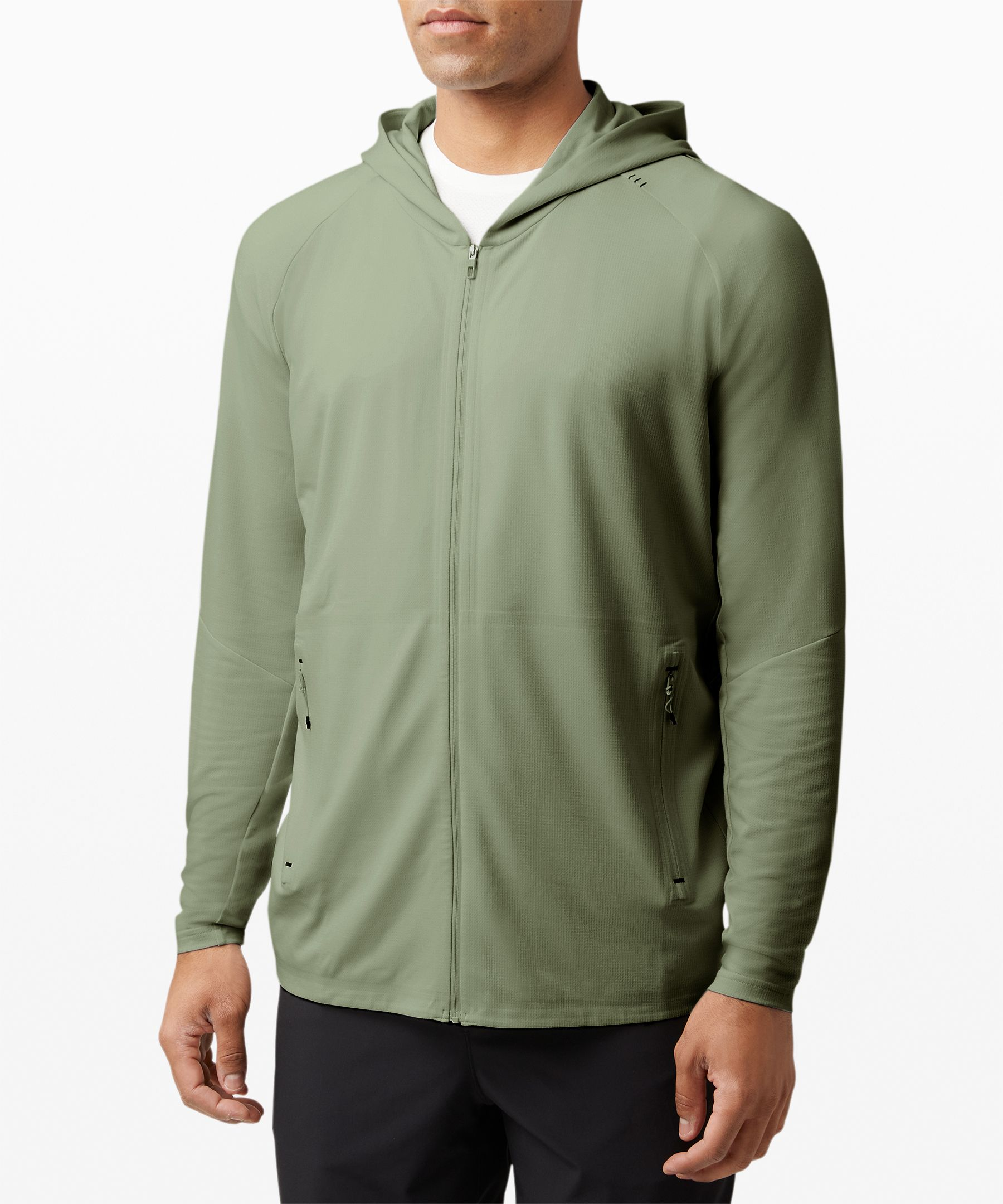 Made from high-performance fabric, this sweat-wicking hoodie keeps things lightweight and breezy even in the heat.