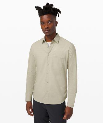 [online only] 다운 투 더 와이어 롱슬리브 셔츠 *그리드, LIGHT SAGE