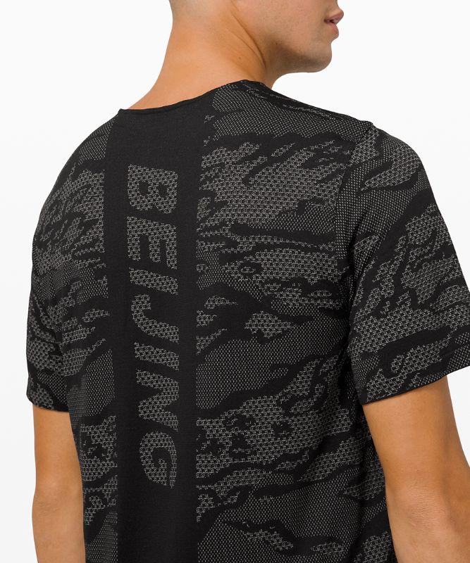 Metal Vent Breathe Short Sleeve Shirt Beijing