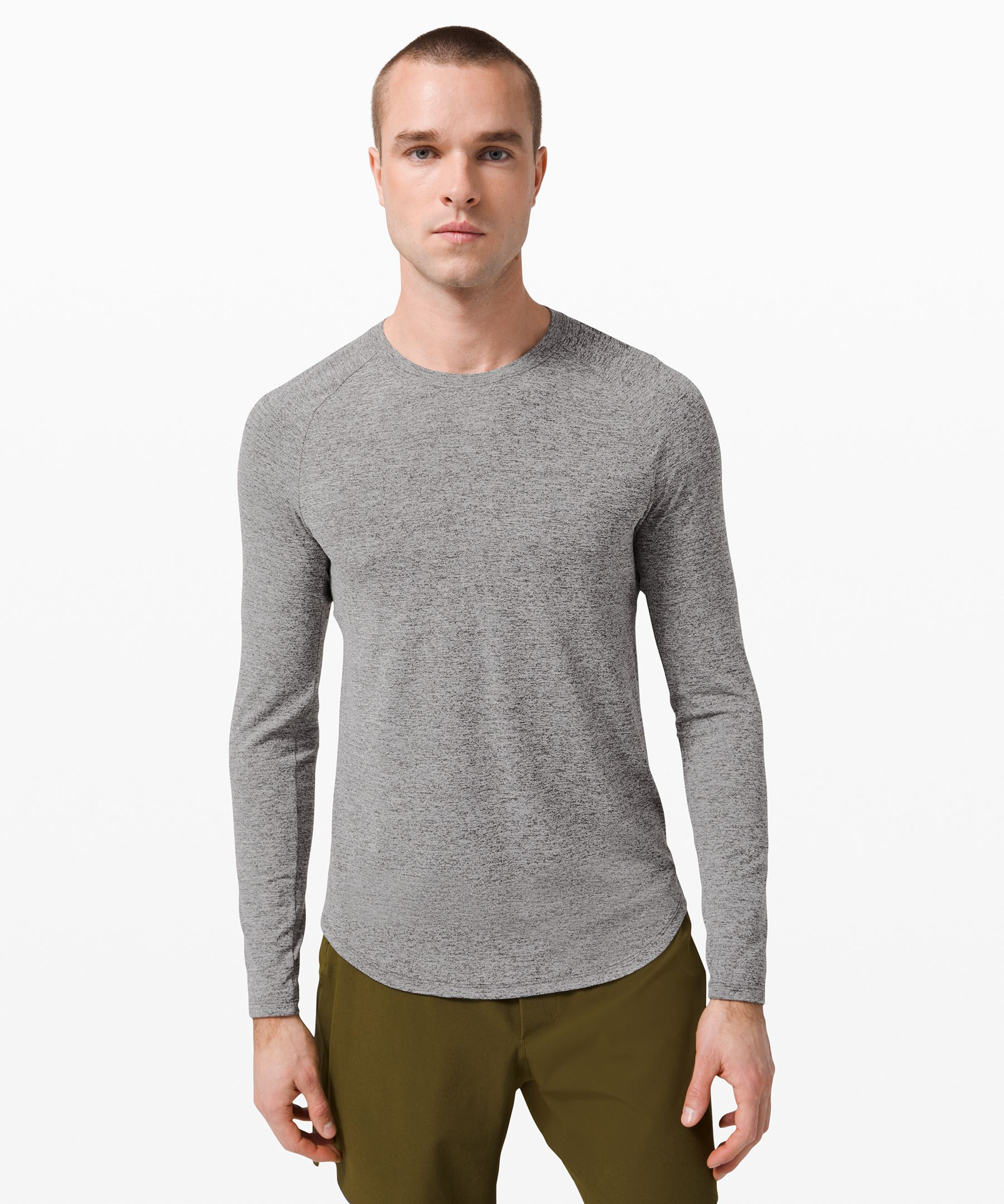 Break a sweat. This long sleeve\\\'s mesh fabric has been developed to feel good against sweaty skin.