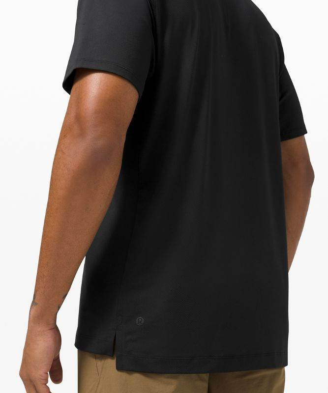 Snap Front Performance Short Sleeve Polo