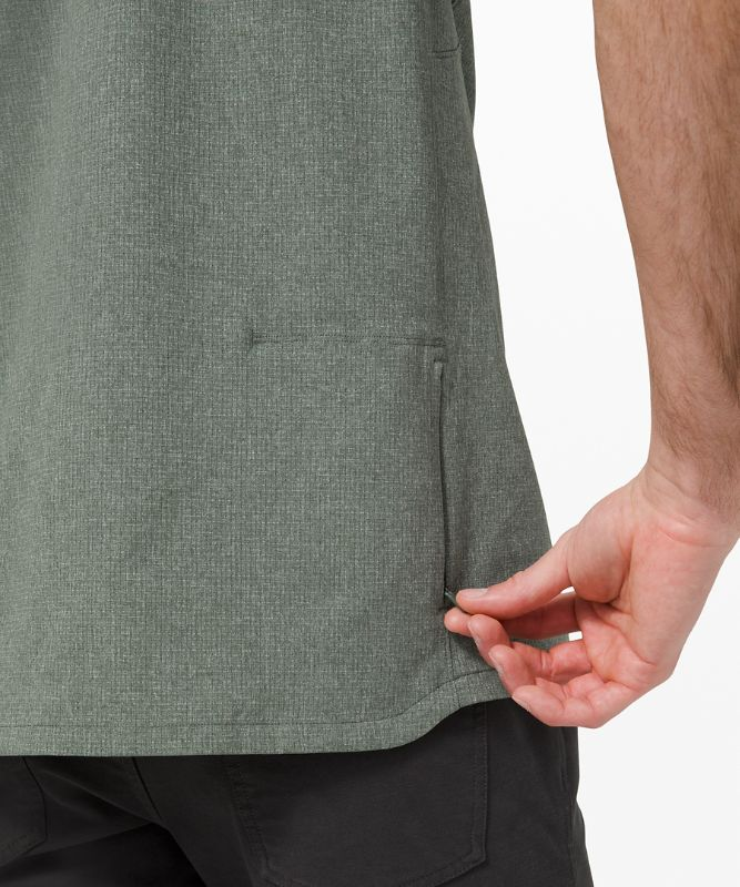 Airing Easy Stand Collar Shirt *Ventlight Mesh