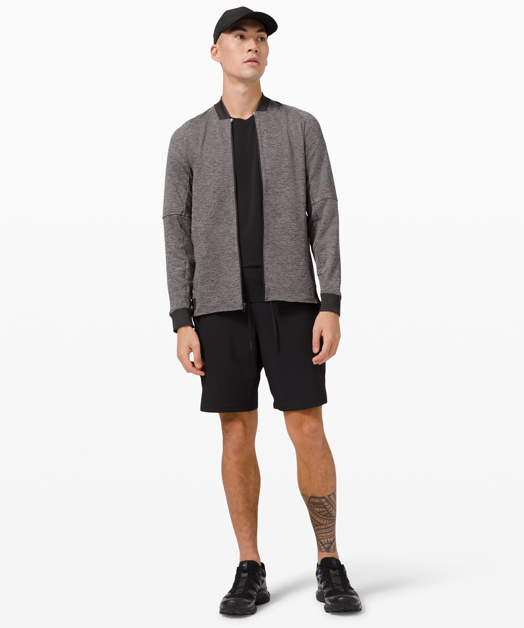 Textured Tech Bomber