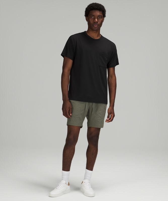 Relaxed Mesh Pocketed Short Sleeve Shirt