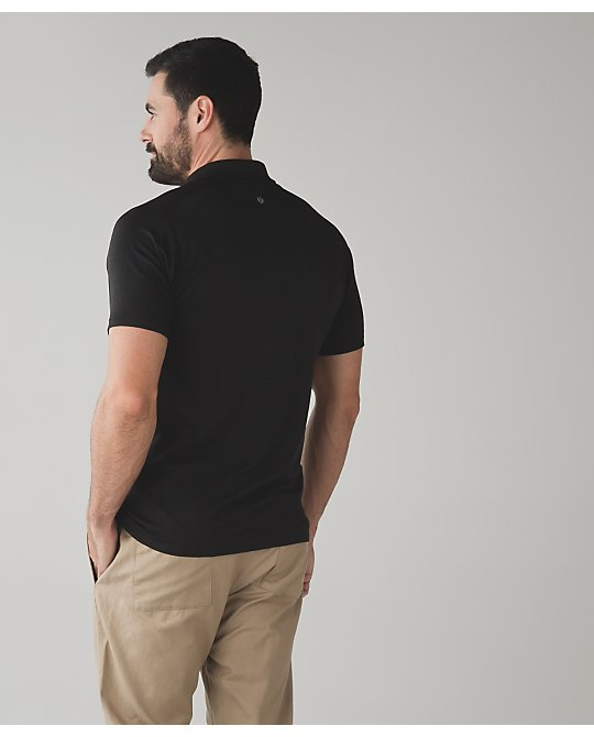 Metal Vent Tech Polo DCO/BLK M