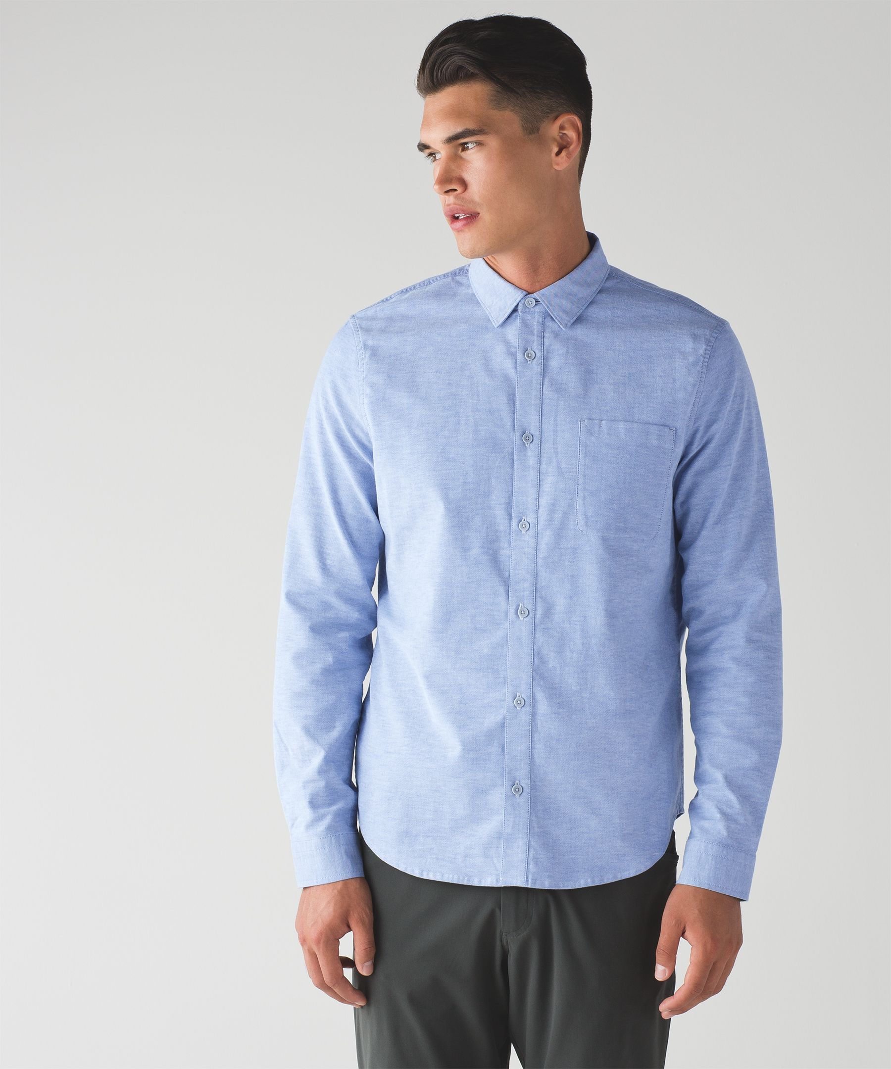 Commission Long Sleeve Button Down *Qwick Oxford