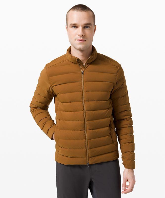 네비게이션 스트레치 다운 재킷, BURNT CARAMEL