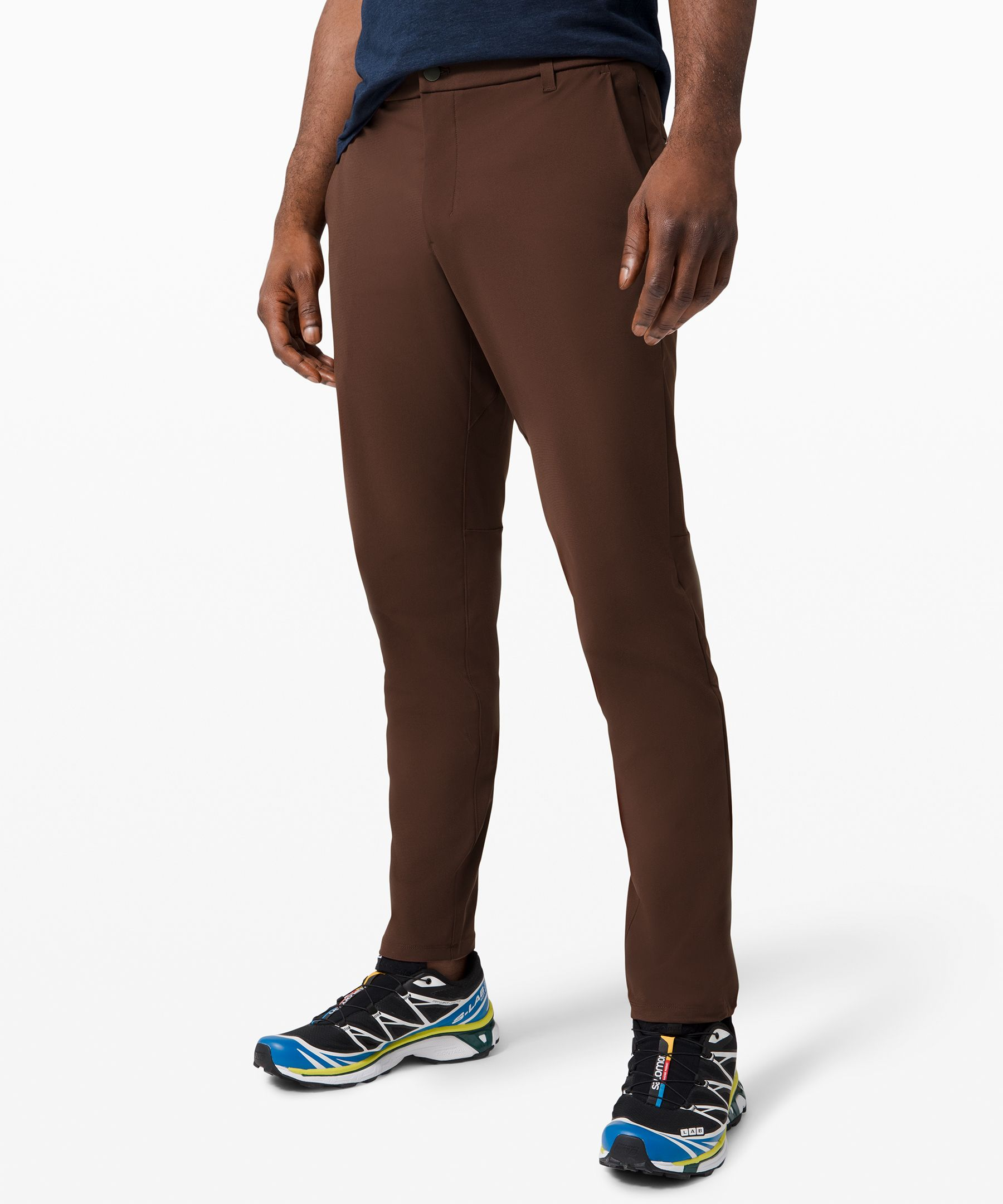 "Lululemon Commission Pant Slim *warpstreme 32"" In Brown"