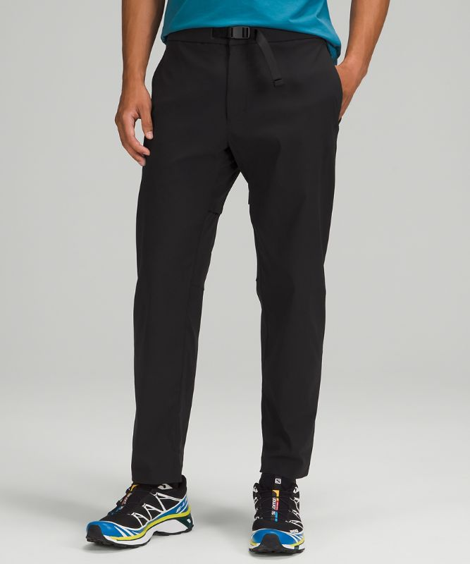 Relaxed Fit Belted Stretch Pant
