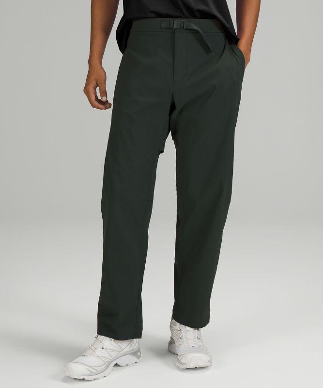 Stretch-Hose mit entspanntem Schnitt und Gürtel