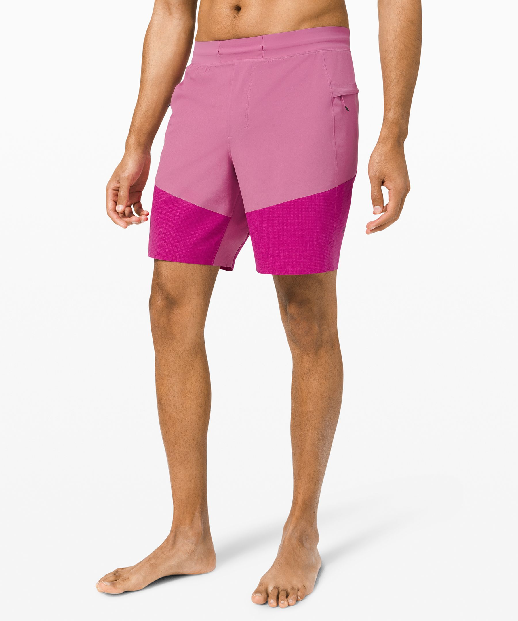 Lululemon Train To Beach Short 8 In Crushed Berry Polar Pink Light Modesens