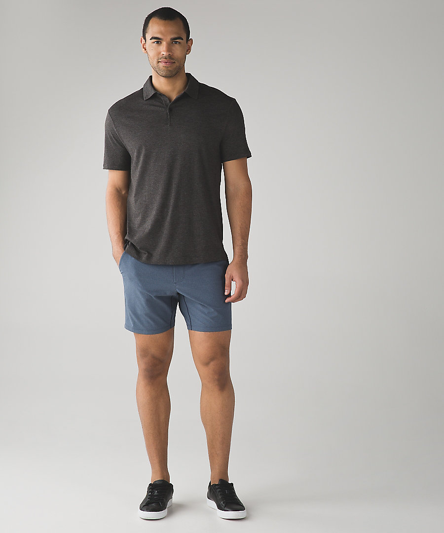 men wearing lululemon's t shirt and shorts