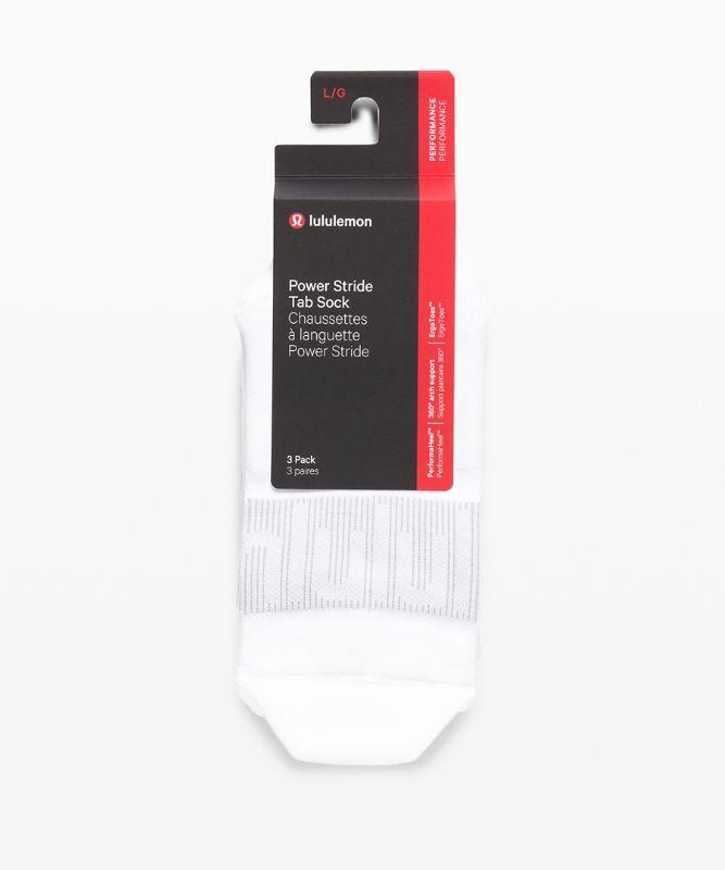 Power Stride Tab Sock *3 Pack Wordmark Silver