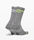 Power Stride Crew Sock Stripe *2 Pack Boxed Set