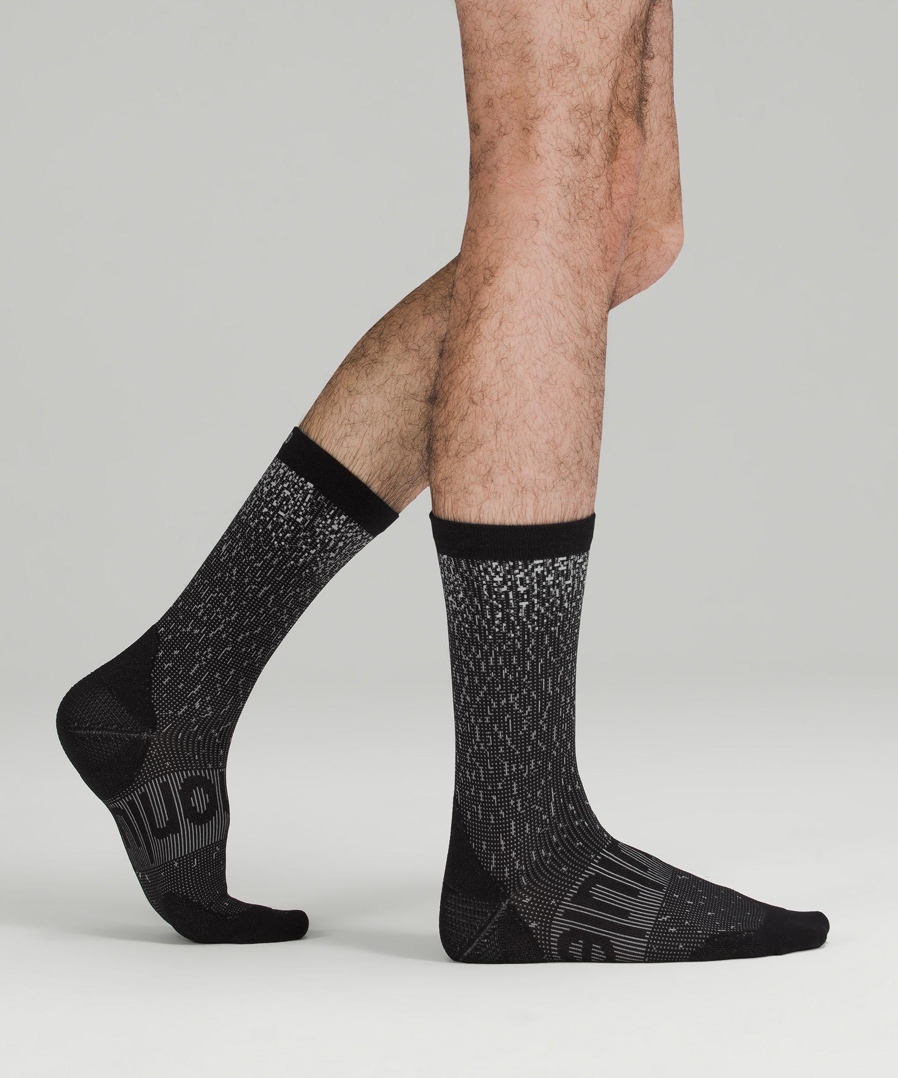Power Stride Men's Crew Sock Reflective