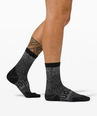 Power Stride Crew Sock *Reflective